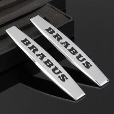 2pcs Car Metal Fender Badge Emblem Decal Sticker For BRABUS AMG A B C E S series