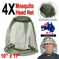 MOSQUITO FLY HEAD NET MESH HAT BEE INSECT BUG MOZZIE PROTECTOR OUTDOOR FISHING