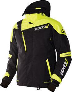FXR™ Men's Mission X Black/Hi-Vis Snowmobile Jacket 170008-1065-XX