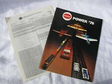 1976 COX POWER 76 CATALOG (GAS AIRPLANES ELECTRIC TRAINS CARS PRICE LIST) RARE!