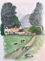 Cotswold-original watercolour painting - British Countryside