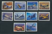3916 - 3925 Advances in Aviation 2005 Mint NH Complete Set of 10 Different Plane