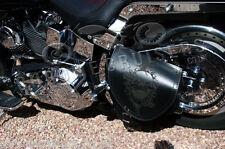 Harley Davidson Softail Cuero Silla Bolsa Swingarm Solo Lado Alforja Bolsa