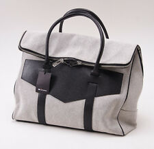 NWT $6450 KITON NAPOLI Canvas and Leather Overnight Duffle Bag Carryall
