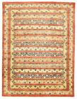 """Vintage Hand-Knotted Carpet 4'11"""" x 6'8"""" Traditional Oriental Wool Area Rug"""