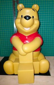 Vintage 1970s Disney Winnie the Pooh figure 10 inches full of Alphabet Wooden Bl