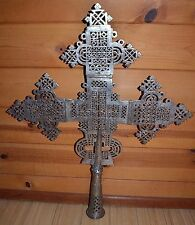 Large Handmade Ethiopian Orthodox Christian Processional Cross, Ethiopia Africa