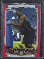KAREEM MARTIN 2014 TOPPS CHROME CARDINALS RED REFRACTOR ROOKIE RC #D 16/25