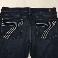 7 for all Mankind Women's Jeans Blue Dark Wash DOJO Flip Flop Style Size 29