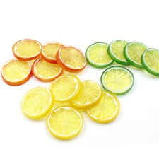 50pcs Fake Lemon Slice Garnish Artificial Fruit Faux Food House Decoration