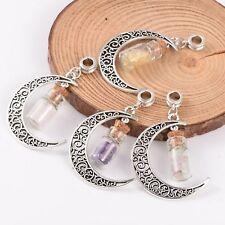 Moon Wish Bottle Choose Favorite Gemstone Necklace Pendant Crystal Metaphysical