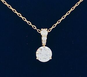 New Authentic SWAROVSKI Gold Sparkle Crystal Solitaire Pendant Necklace 5511557