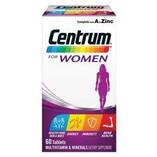 CENTRUM FOR WOMEN 60 TABLETS MULTIVITAMINS MINERALS ENERGY IMMUNITY BONE HEALTH