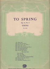 To Spring-1930's-OP.43,No.6 Grieg-6  Page-Sheet Music