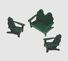 1:12 Scale Dollhouse Miniature Adirondack Chair Set kit