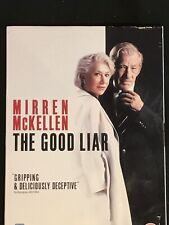 THE GOOD LIAR 2019 DVD Region 2 (Dog Charity Sale) FREE UK POSTAGE Helen Mirren