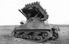 WW2 Picture Photo Rocket Launcher T40 M17 on a M4 Sherman  2657