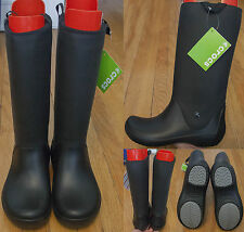 Crocs Womens Rainfloe Boots US Sz 11 UK 9 Euro 42-43 Black NWT