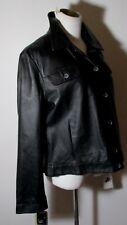 Women's FASHION ELEMENTS Black 100% Leather Jacket Size XL NWT