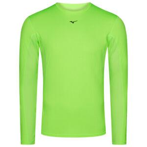 Mizuno Sport Herren Langarm Fitness Kompressionsshirt 73CF151-35 Gr. S grün neu