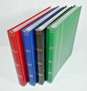 Large A4 Stockbook - Stamp Album 32 Black Pages - Hardback Cover