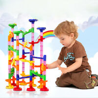 Marble Run 80 Piece/Box Construction Toy Game Set Maze Race Track Building