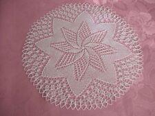 weißes Deckchen gestrickt rund ca. 38 cm weiße runde Mitteldecke