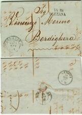 2308-GRANDUCATO DI TOSCANA, PREF., DA LIVORNO A BORDIGHERA, VIA DI SARZANA, 1857