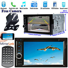 Car Stereo CD DVD Player Double DIN MirrorLink+Camera Fit For Chevrolet GMC Ford