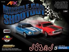 HO Slot Car Set Muscle Car Shootout W/ Mega G+ System 23 Feet Of Running Track