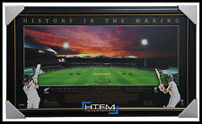 ADELAIDE OVAL 2015 NIGHT TO REMEMBER AUSTRALIA NIGHT TEST CRICKET PRINT FRAMED