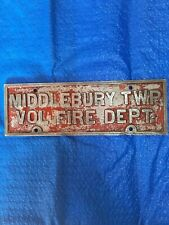 Middlebury Township Volunteer Fire Department Sign