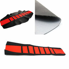 Off-road Motorcycles Dirt Bike Wear Resistant Seat Cover Protector Red + Black
