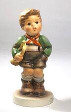 Hummel Goebel Figurine, Trumpet Boy, Initialed, #91, TMK5, (1972-79)