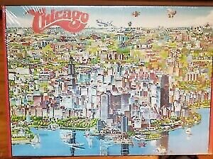 City of Chicago Jigsaw Puzzle by Buffalo Games 1988 504 Piece (FACTORY SEALED)
