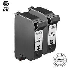 2PK C6615DN for HP 15 BLACK Inkjet Cartridge DeskJet 810 812 825 840 841 842 940