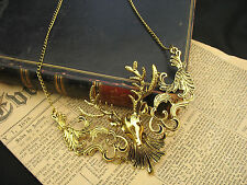Large  Deer Stag Antlers Large Jewellery Necklace Fantasy Gothic Steampunk Retro