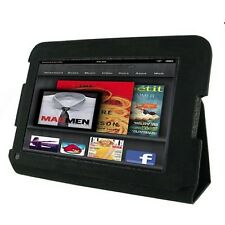 """rooCASE for Amazon Kindle Fire HD 7"""" Leather Folio Case Black"""