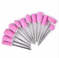12Pcs Electric Manicure Drill Bits Nail Tip Polish Buffer File Grinding Head S4