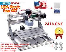Us Stock Cnc 2418 Diy Cutter Wood Router Kit Pcb Pvc Engraving Milling Machine