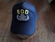 U.S NAVY EOD HAT U.S MILITARY OFFICIAL BALL CAP U.S.A MADE EXPLOSIVE ORDNANCE