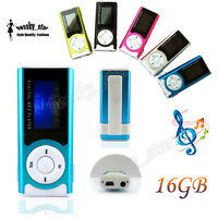 Brillante LCD Pantalla USB Clip Reproductores MP3 Player Support 16GB Micro SD
