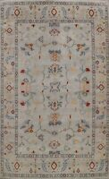 Geometric Oushak Oriental Area Rug Dining Room Hand-knotted Wool Carpet 9'x12'