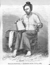 BIRMANIE BURMA MYANMAR CORDONNIER KAREN KARIANG GRAVURE IMAGE 1875
