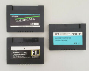 Lot 3 Cartouches Gérer vos fiches Colorpaint Colorcalc Thomson To7 To8 To9 IPT