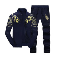 2PCS Men's Sweater Casual Tracksuit Sport Suit Jogging Athletic Jacket+Pants Hot