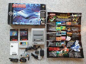 """16-Bit Technologie Set"" Mario World SNES Konsole OVP Karton Box Super Nintendo"