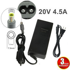 For Lenovo ThinkPad Laptop Ac Charger Power Adapter 90W 20V 4.5A Round Tip Fast