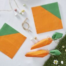 Easter Carrot Shaped Paper Napkins Peter Rabbit Party 16 Napkins Easter Egg Hunt