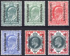 Bechuanaland 1904 1/2d-1s GB EVII SG 66-71 Scott 76-80+ VLMM/MVLH Cat £142($187)